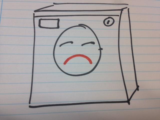 jordslået vaskemaskine